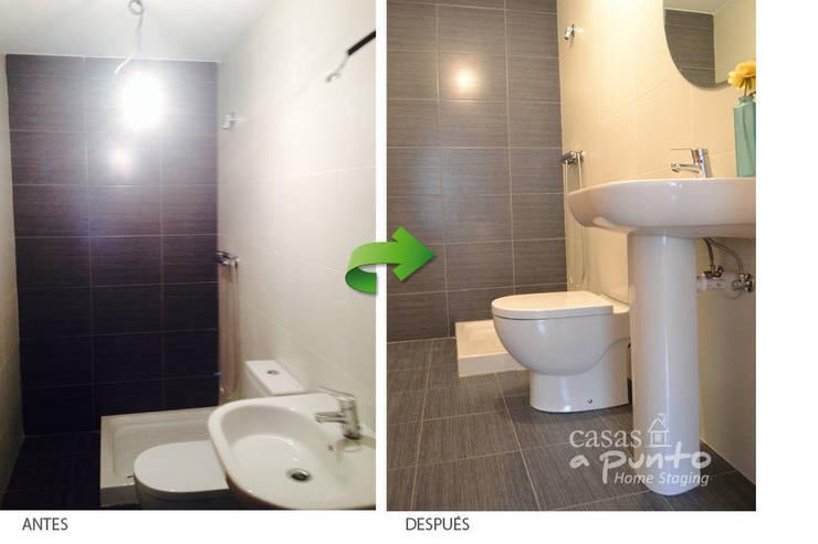 Baño incorporado al dormitorio. :  de estilo  de Casas a Punto home staging
