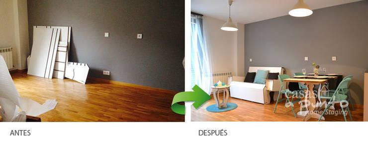 Los detalles,  el color, las texturas. :  de estilo  de Casas a Punto home staging