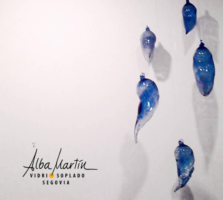 Crisálidas: Comedor de estilo  de Alba Martín Vidrio Soplado