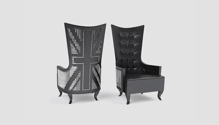 Fotel PUNK: styl , w kategorii Salon zaprojektowany przez Delicious Concept