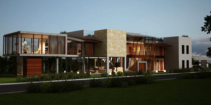 Casas de estilo  por Latis Mimarlık ve İnşaat