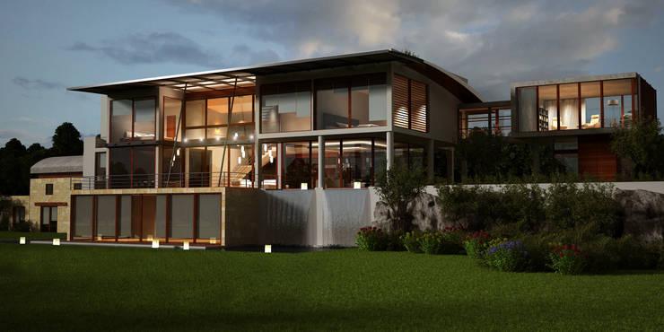 Casas de estilo  por Latis Mimarlık ve İnşaat,