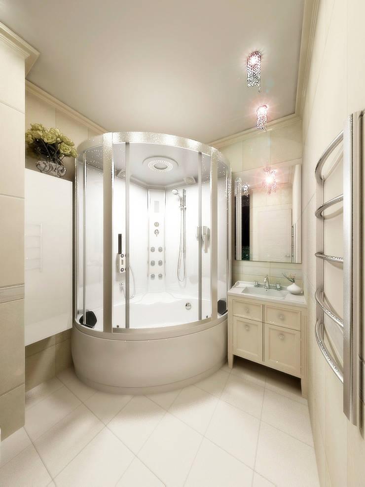 Проект в г.Балашиха МО: Ванные комнаты в . Автор – Ольга Зелинская