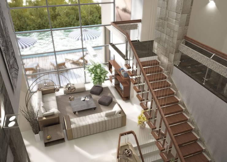 Latis Mimarlık ve İnşaat – Oturma odası dek 01: modern tarz , Modern