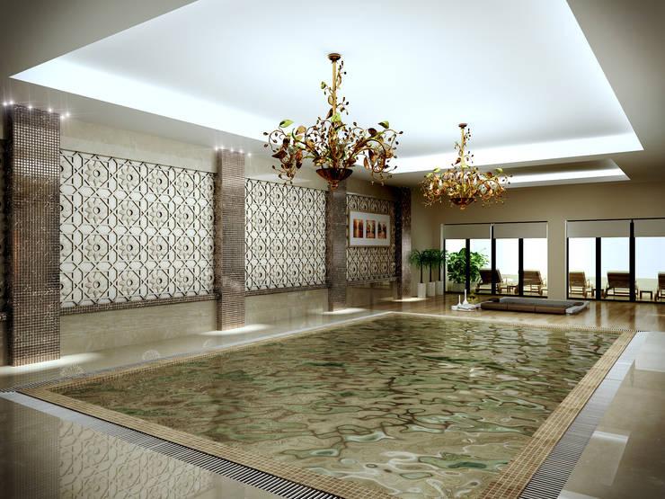 Latis Mimarlık ve İnşaat – Havuz Dekorasyon Projesi: modern tarz , Modern