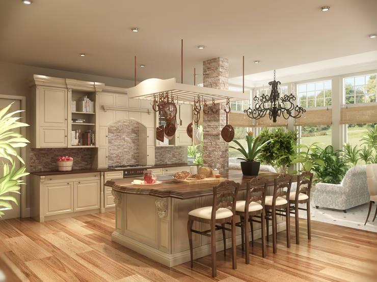Latis Mimarlık ve İnşaat – Mutfak Dekorasyon Projesi :  tarz , Rustik