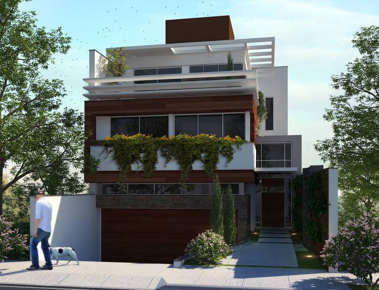 Fachada Frontal: Casas  por Biehl Arquitetura