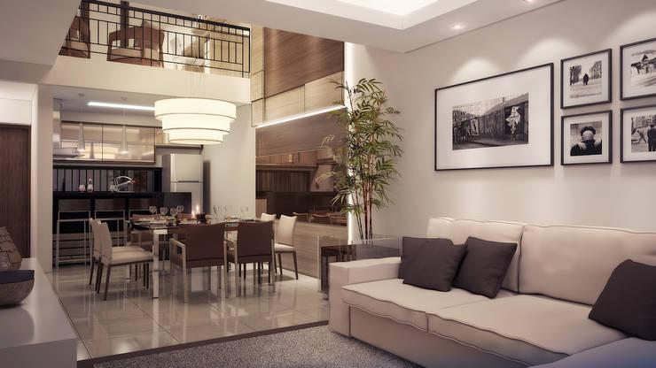 Residência DC: Salas de jantar  por Biehl Arquitetura