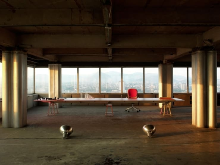 Salle à manger de style  par lorenzo alvarez arquitectos