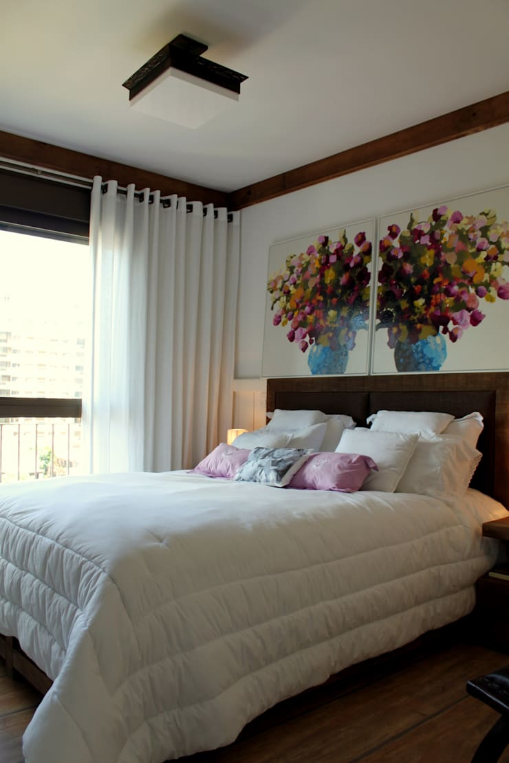 ห้องนอน โดย Mariana M Simoes arquitetura conceitual,