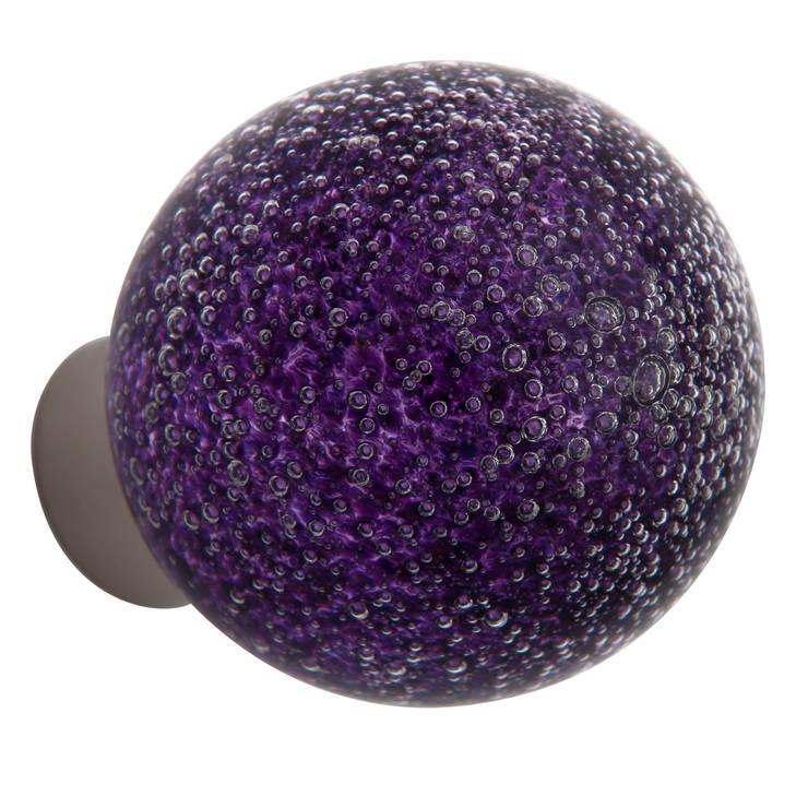 Bouton de porte Microbulles hyacinthe sphérique: Maison de style  par Les  Verreries de Bréhat