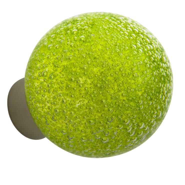 Bouton de porte Microbulles vert anis sphérique: Maison de style  par Les  Verreries de Bréhat