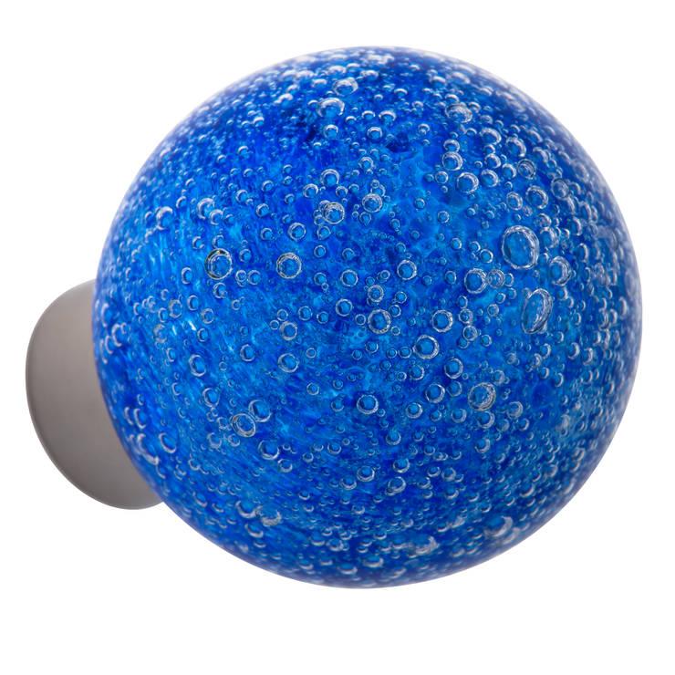 Bouton de porte Microbulles bleu sphérique: Maison de style  par Les  Verreries de Bréhat