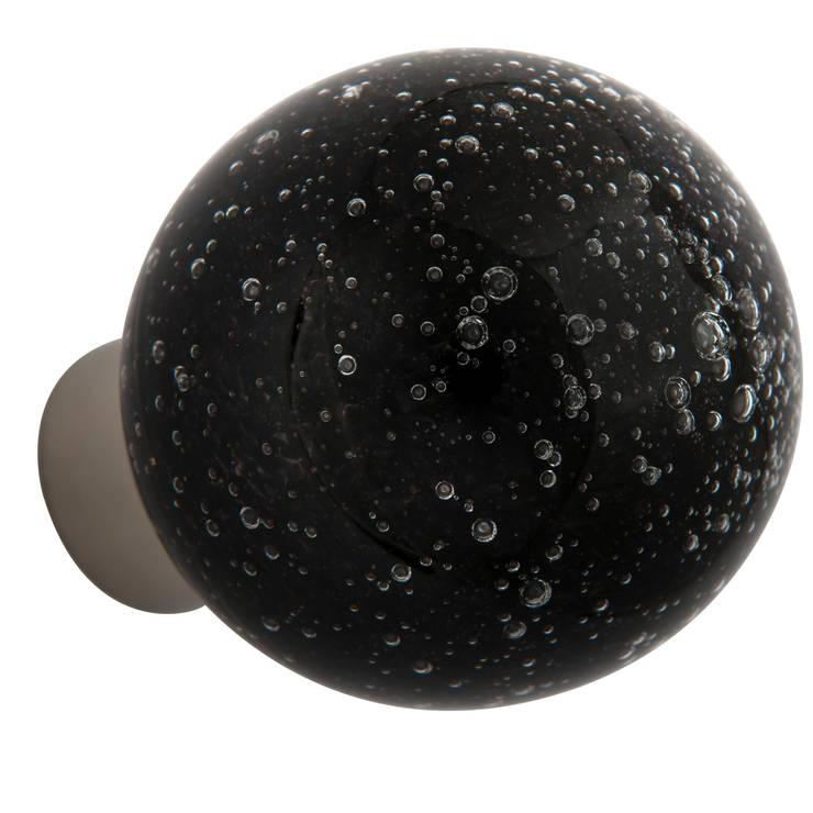 Bouton de porte Microbulles noir sphérique: Maison de style  par Les  Verreries de Bréhat