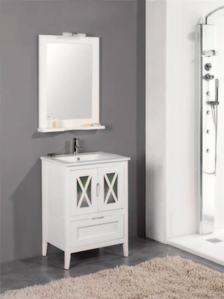Mueble de baño Avila de 60 cm en blanco: Baños de estilo  de Bañoweb