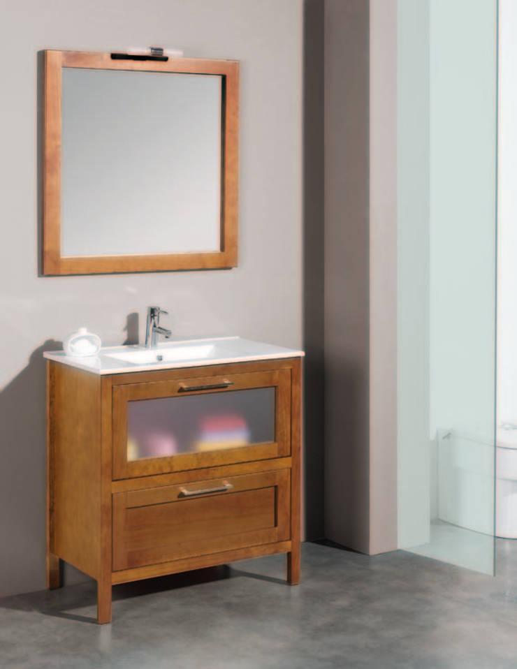 Mueble de baño Daimiel 80 Nogal: Baños de estilo  de Bañoweb