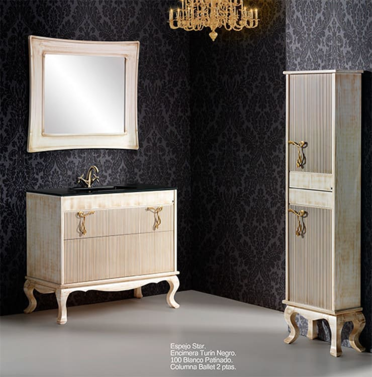Mueble de baño Ballet de 100 hueso: Baños de estilo  de Bañoweb