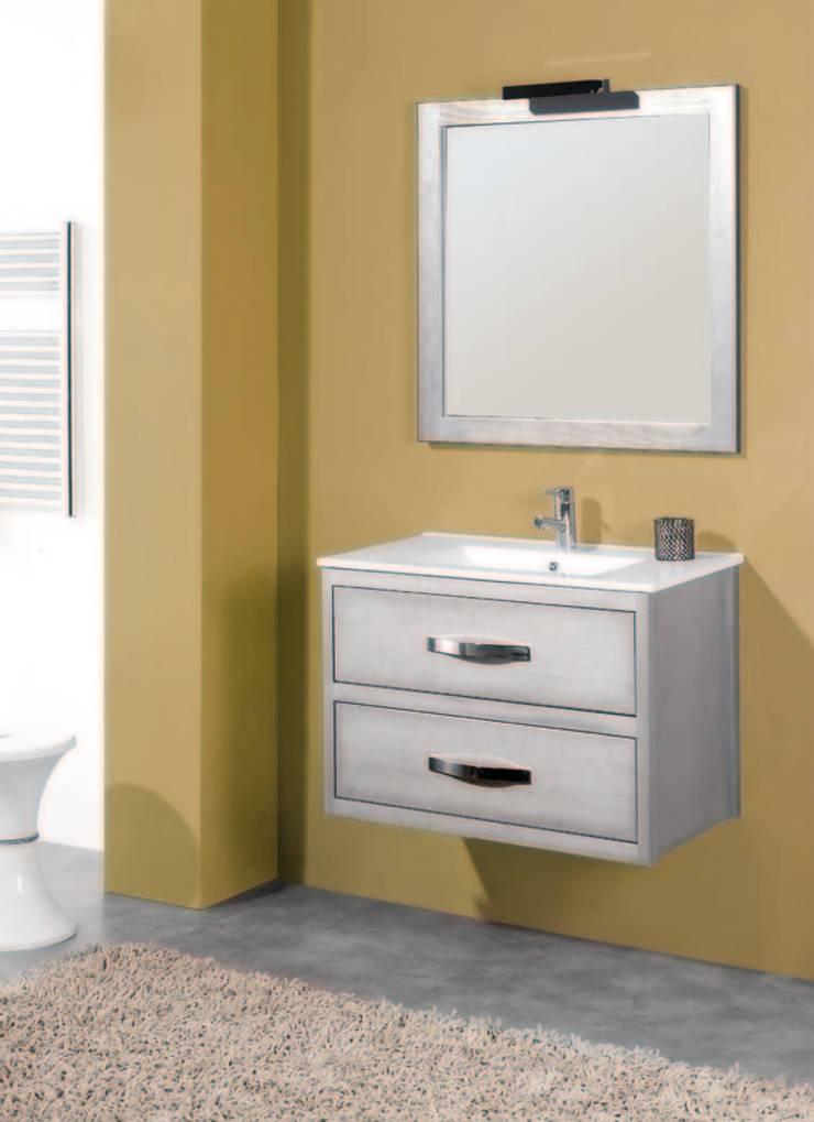 Mueble de baño Antequera en plata: Baños de estilo  de Bañoweb