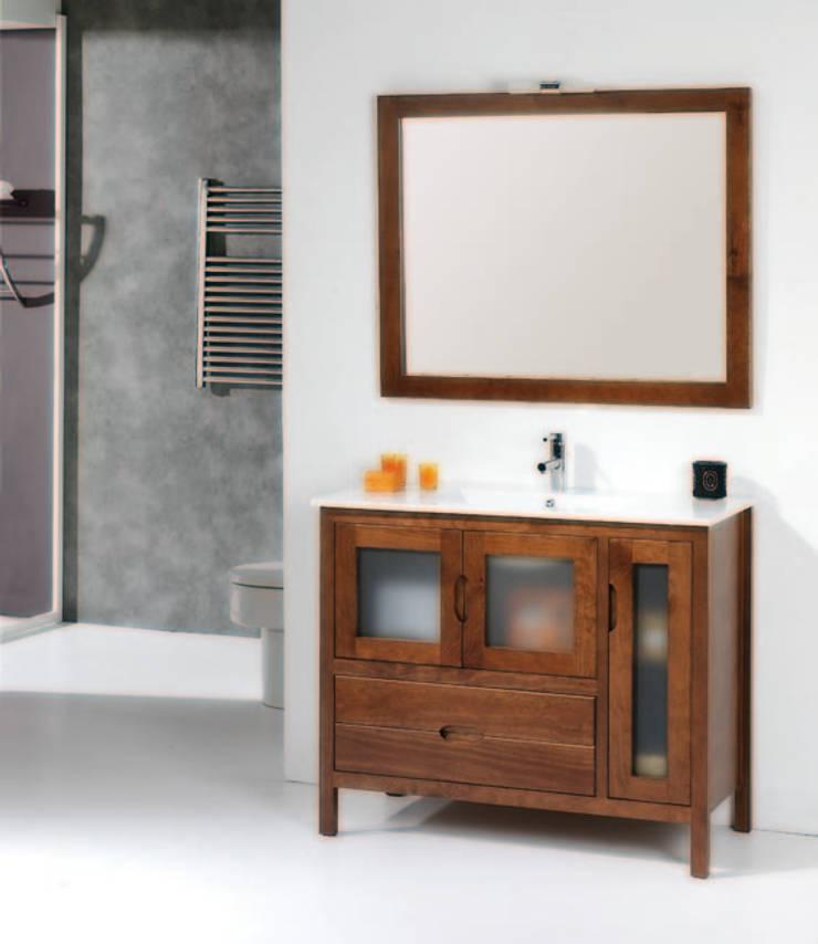 Mueble de baño Bruselas de 100 Nogal : Baños de estilo  de Bañoweb