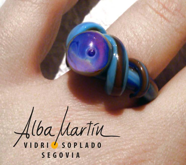 """Anillo"" Vidrio de Murano, realizado con soplete: Arte de estilo  de Alba Martín Vidrio Soplado"