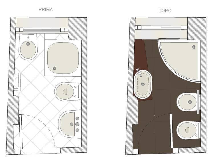 Bagno tutto in 2 5 mq by studio architettura vitale homify - Mq minimi bagno ...