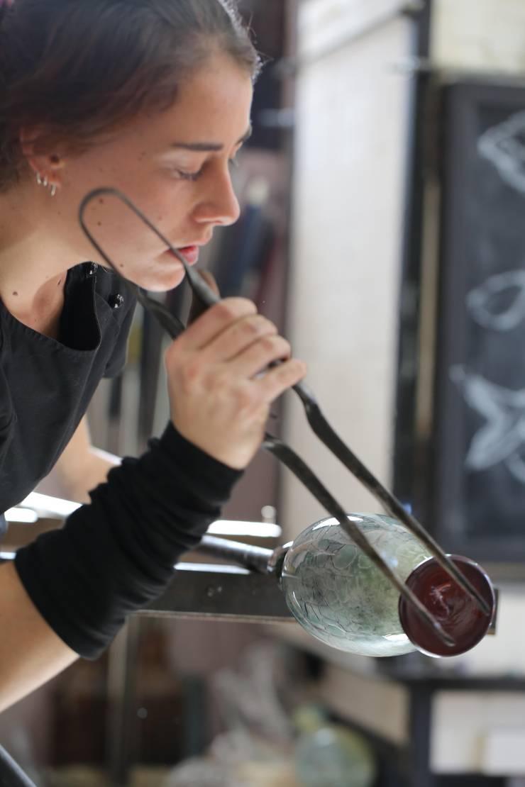 El proceso del vidrio soplado:  de estilo  de Alba Martín Vidrio Soplado