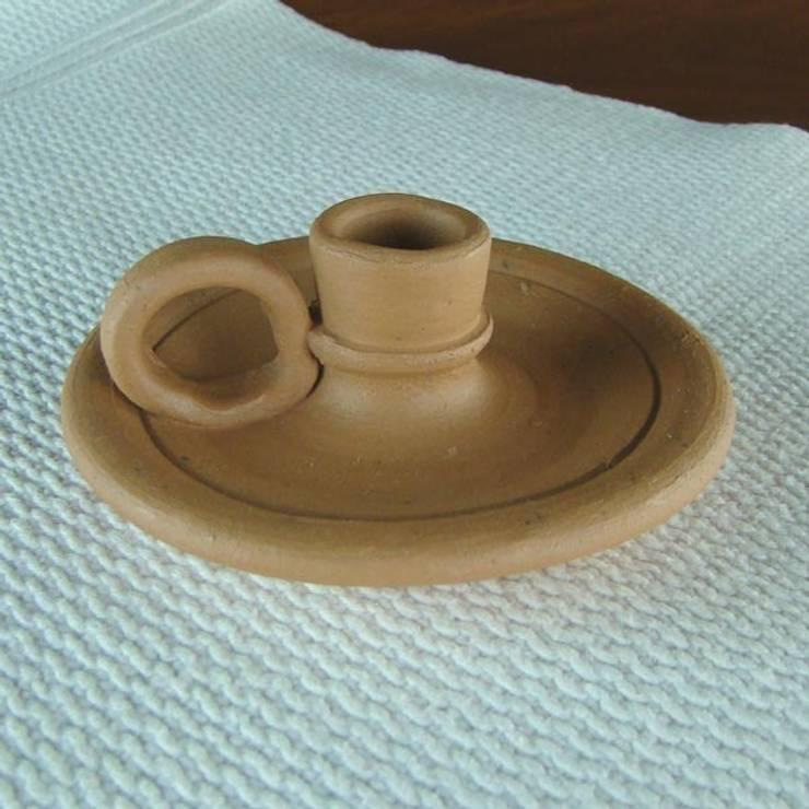 Castiçal de Cerâmica Crua: Quarto  por Vida Rústica Artesanato e Decoração