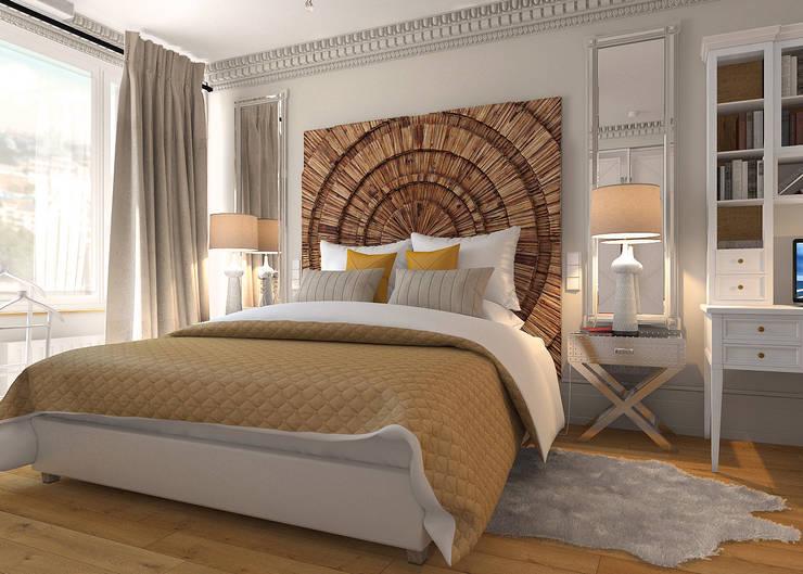 Дизайн квартиры в комплексе <q>Александрия</q>: Спальни в . Автор – Студия Антона Базалийского