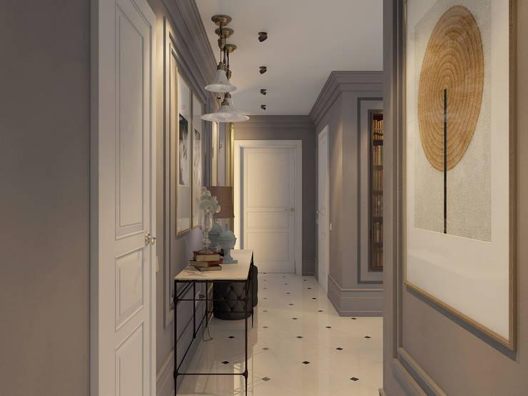 Дизайн квартиры в комплексе <q>Александрия</q>: Коридор и прихожая в . Автор – Студия Антона Базалийского