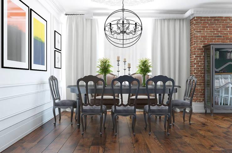Дизайн квартиры в комплексе <q>Александрия</q>: Столовые комнаты в . Автор – Студия Антона Базалийского