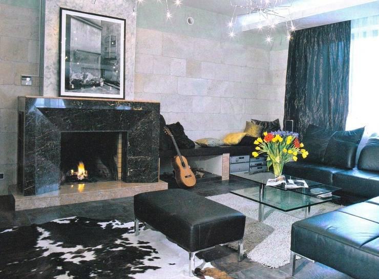 История с геометрией: Гостиная в . Автор – Studio B&L