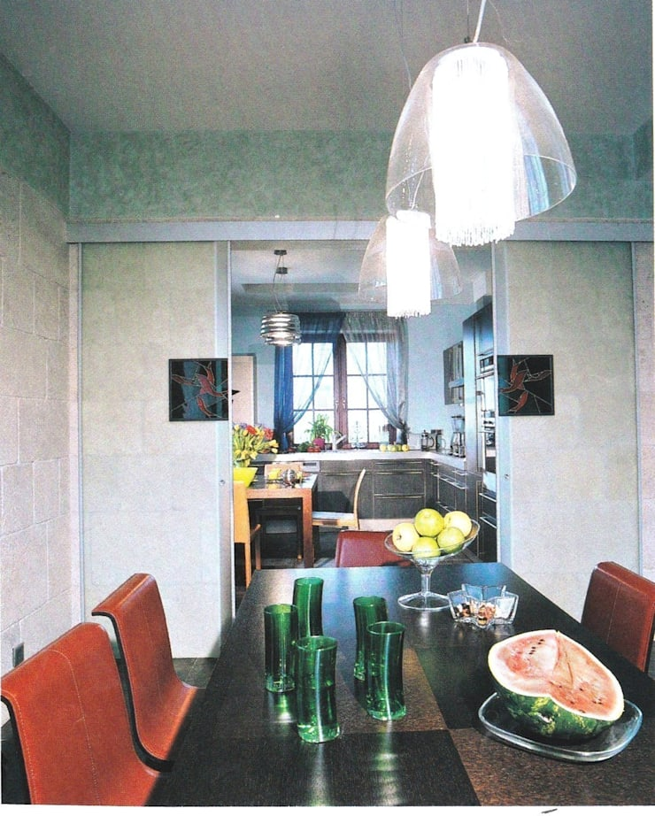 История с геометрией: Столовые комнаты в . Автор – Studio B&L