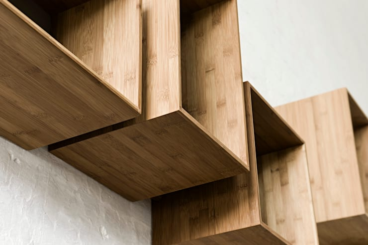 SJ Bookcase Large & Midi:  Living room by We Do Wood