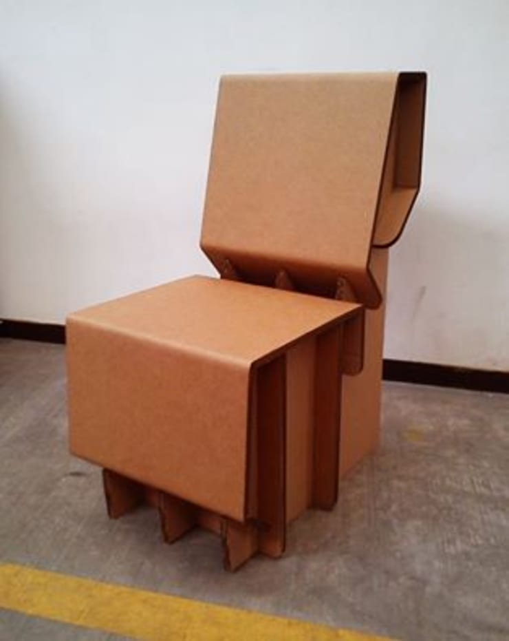 Silla de Cartón: Oficinas y tiendas de estilo  por Modulec