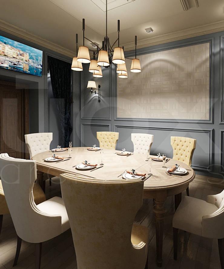 Нежный ВИП-зал ресторана.: Бары и клубы в . Автор – ЙОХ architects,