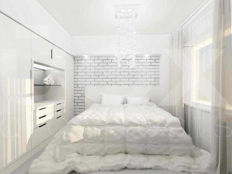 Квартира <q>TOTAL WHITE</q>: Спальни в . Автор – ЙОХ architects,