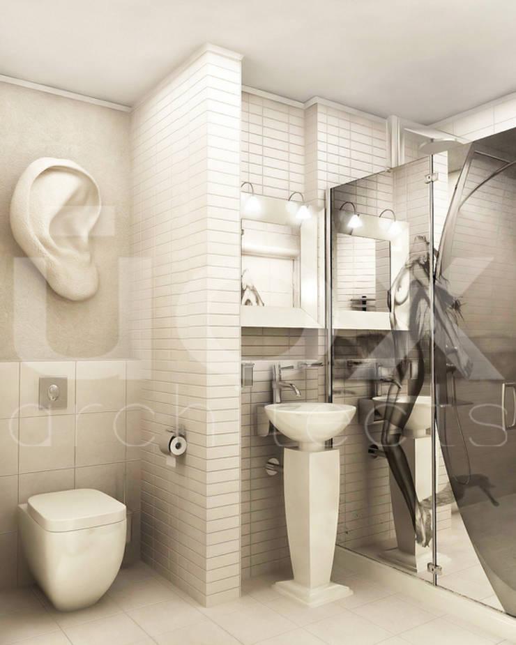 Квартира <q>TOTAL WHITE</q>: Ванные комнаты в . Автор – ЙОХ architects,