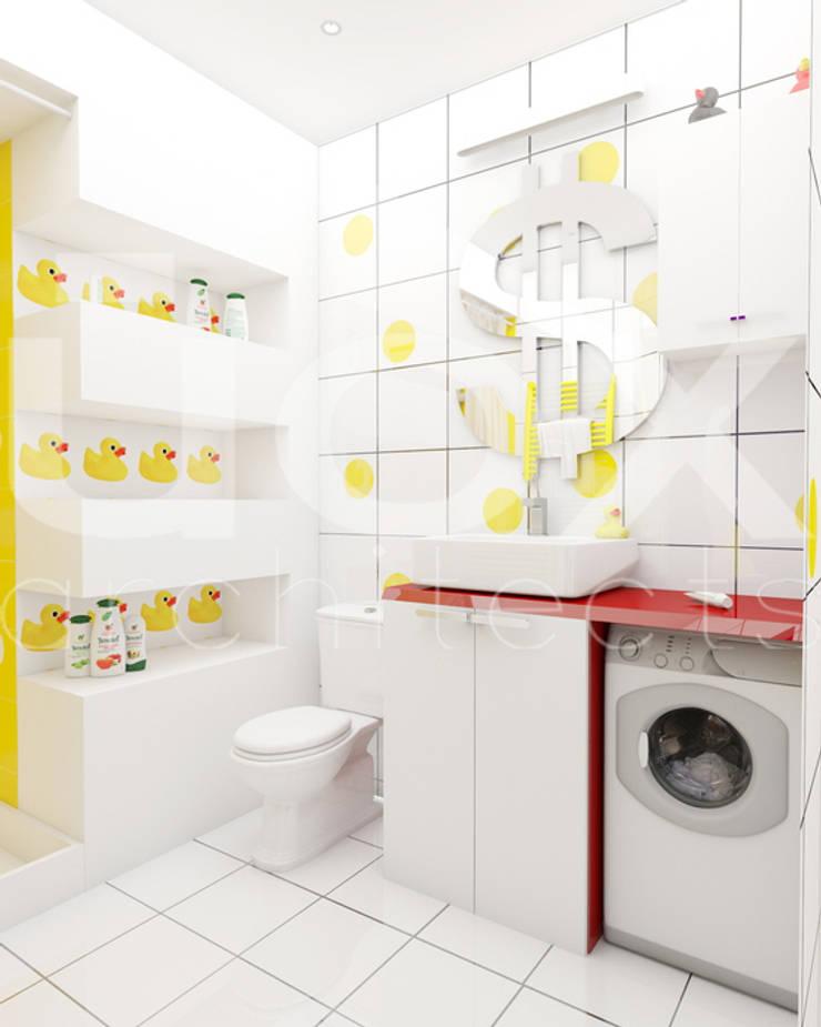 Квартира <q>POPart&cocaCOla</q>: Ванные комнаты в . Автор – ЙОХ architects, Эклектичный