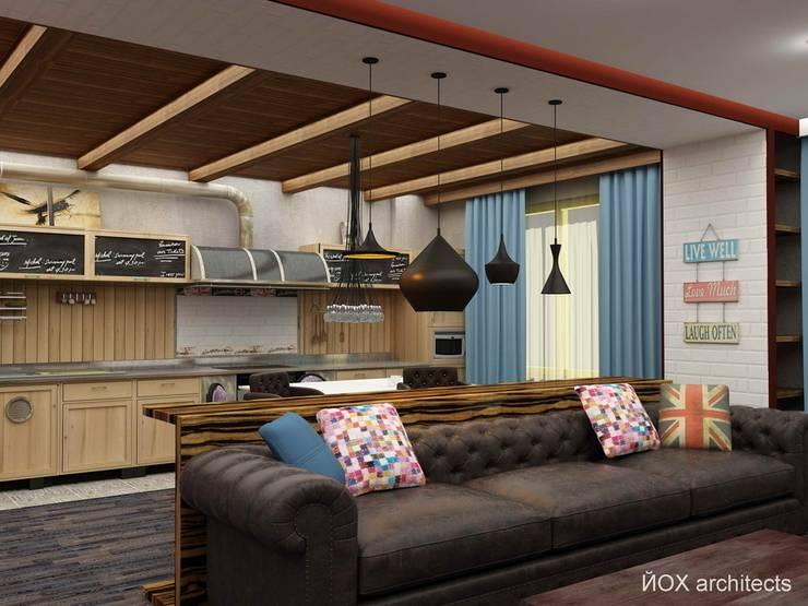 """Квартира """"Ироничный Лондон"""": Гостиная в . Автор – ЙОХ architects, Эклектичный"""