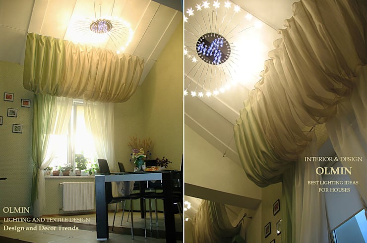 ПоТолковая квартира: Столовая комната в . Автор – ИП OLMIN - Архитектурная студия Олега Минакова