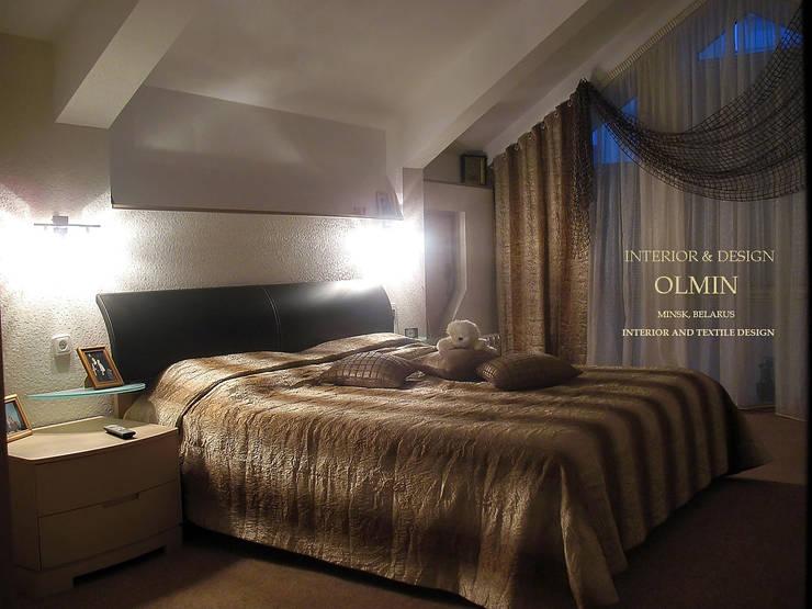 ПоТолковая квартира: Спальни в . Автор – ИП OLMIN - Архитектурная студия Олега Минакова