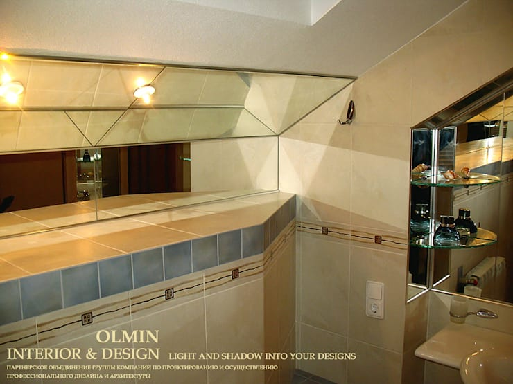 ПоТолковая квартира: Ванные комнаты в . Автор – ИП OLMIN - Архитектурная студия Олега Минакова