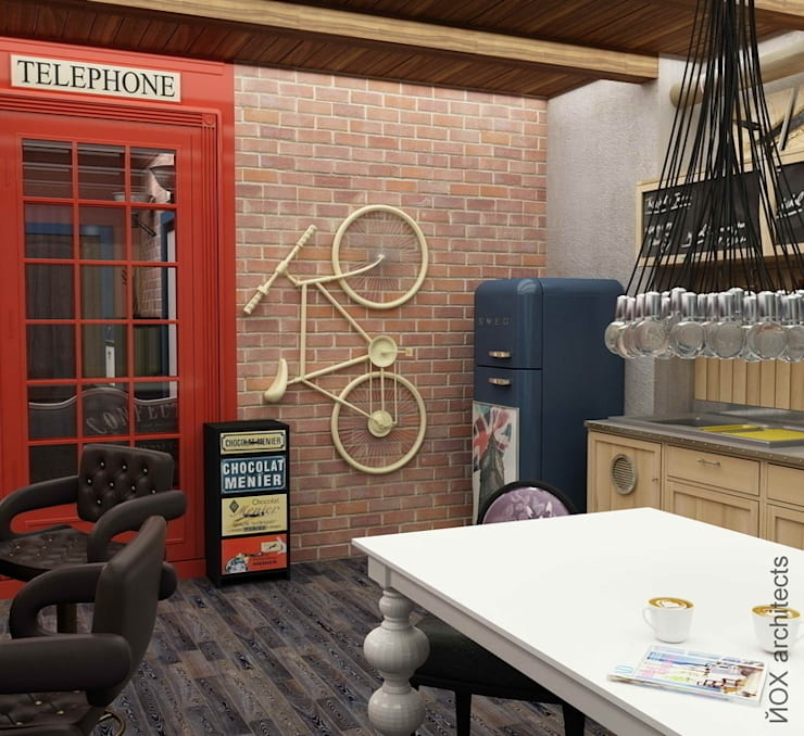 Квартира <q>Ироничный Лондон</q>: Кухни в . Автор – ЙОХ architects, Эклектичный