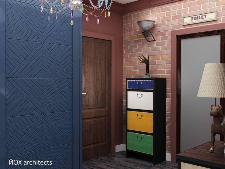 Квартира <q>Ироничный Лондон</q>: Коридор и прихожая в . Автор – ЙОХ architects, Эклектичный
