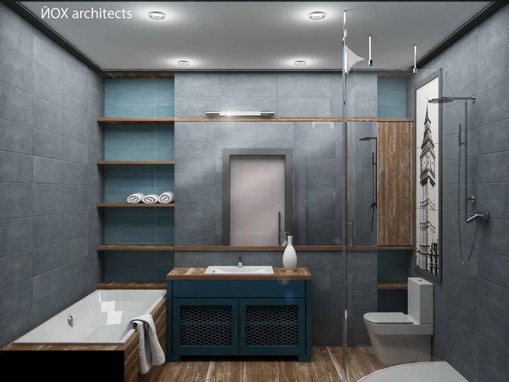 Квартира <q>Ироничный Лондон</q>: Ванные комнаты в . Автор – ЙОХ architects