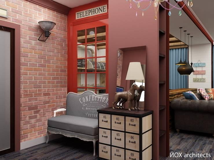 Квартира <q>Ироничный Лондон</q>: Коридор и прихожая в . Автор – ЙОХ architects