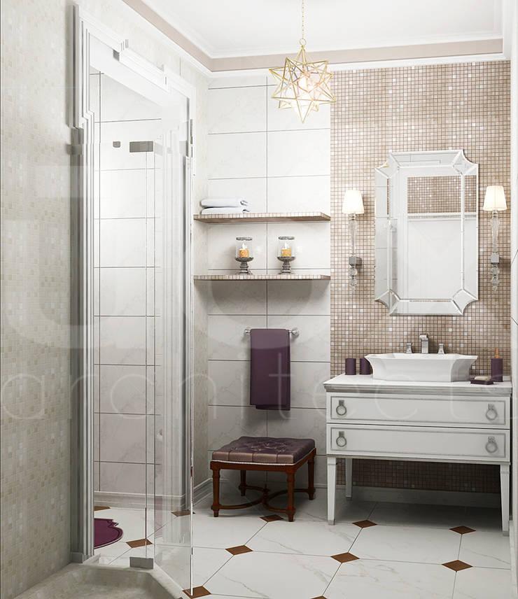 Квартира <q>Райские птицы</q>: Ванные комнаты в . Автор – ЙОХ architects