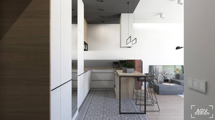 54 m2: styl , w kategorii Kuchnia zaprojektowany przez ADV Design