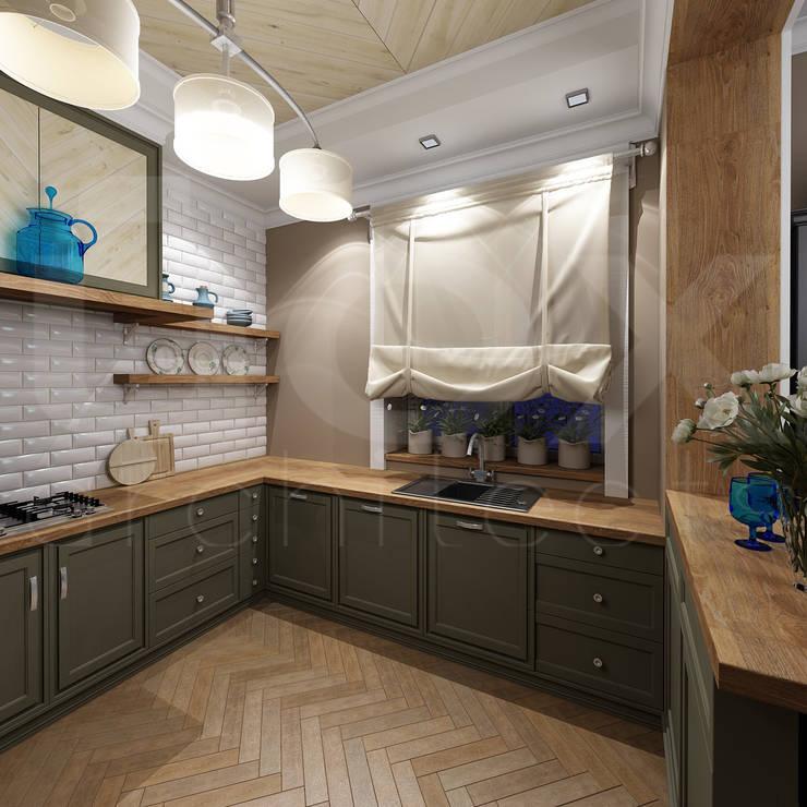 Коттедж <q>Голубое озеро</q>: Кухни в . Автор – ЙОХ architects