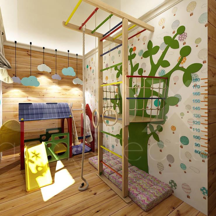 Quartos de criança ecléticos por ЙОХ architects